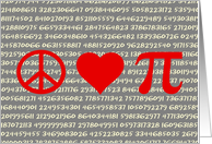 Peace, Love, and Pi; Math Lover's Card