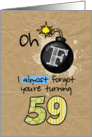 F-bomb birthday - 59 years old card