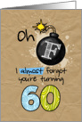 F-bomb birthday - 60 years old card
