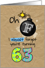 F-bomb birthday - 63 years old card