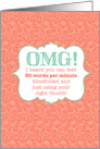 OMG! Text Messaging Congratulations for Graduate card