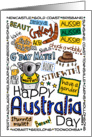 Happy Australia Day - wordcloud card