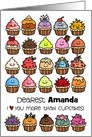 Birthday Cupcakes - customize for any name card