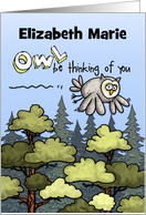 Thinking of you at summer camp - customize for any name card