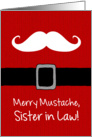 Merry Mustache - Sister in Law card