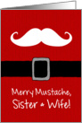 Merry Mustache - Sister & Wife card