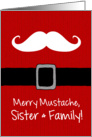 Merry Mustache - Sister & Family card
