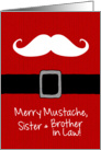 Merry Mustache - Sister & Brother in Law card