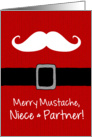 Merry Mustache - Niece & Partner card