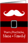 Merry Mustache - Niece & Family card