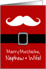 Merry Mustache - Nephew & Wife card