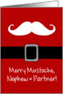 Merry Mustache - Nephew & Partner card