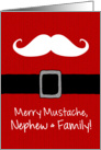 Merry Mustache - Nephew & Family card