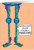 Low Blood Sugar Monster - Encouragement for Child with Diabetes card