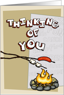 Thinking of you at summer camp - campfire card