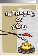 Thinking of you at summer camp - campfire card