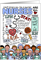happy nurses day - word cloud card