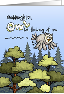 Goddaughter - Thinking of you at summer camp - Owl card