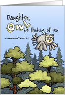 Daughter - Thinking of you at summer camp - Owl card