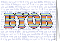 text message - BYOB card