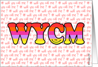 text message - WYCM card