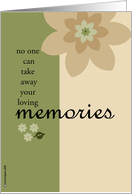 no one can take away your loving memories card