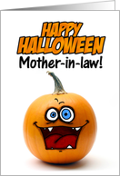 happy halloween pumpkin - mother-in-law card