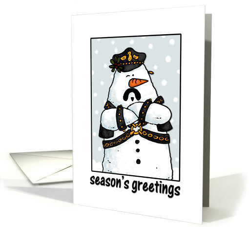 Leather daddy snowman