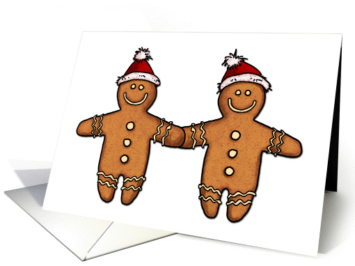 Christmas – gay gingerbread men couple
