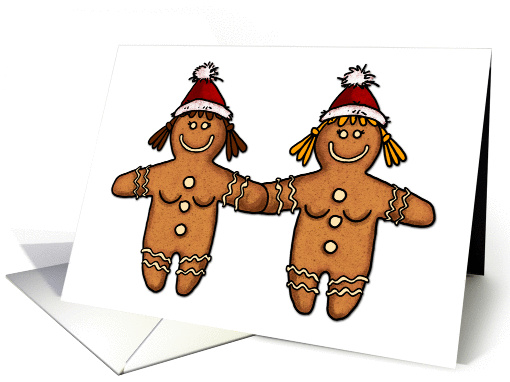 Christmas – lesbian gingerbread couple