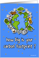 carbon footprint card