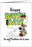 Happy Birthday to my father-in-law - birthday blast card