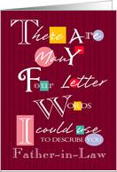 Father-in-Law - Four Letter Words - Birthday card