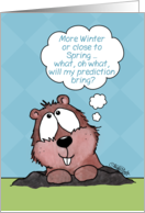 Groundhog Day-Groundhog Thinks about Prediction card
