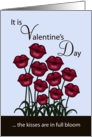 Happy Valentine&rsquo;s Day to my Husband-Lip Shaped Flowers card