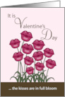 Happy Valentine&rsquo;s Day to my Wife-Lip Shaped Flowers card