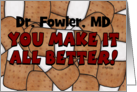 Congratulations Becoming a Doctor-Bandage Collage-Make It All Better card