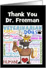 Personalized Thank You to Veterinarian-Vet Terms card