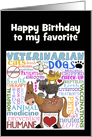 Customizable Happy Birthday to Veterinarian-Vet Terms card