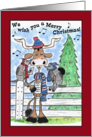 Merry Christmas-Longhorn and Armadillos Sing Carols card