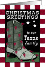 Merry Christmas to Texas Family-Cowboy Boot Chili Pepper lights card