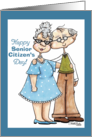 Happy Senior Citizen's Day-Elderly Man and Woman card