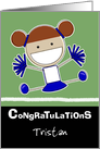 Personalized Congratulations on making Cheerleader-Red Hair card