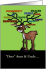 Customizable Christmas for Aunt/Uncle-Reindeer with Decorated Antlers card