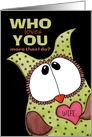 Customizable Happy Birthday for Wife- Green and Brown Spotted Owl card