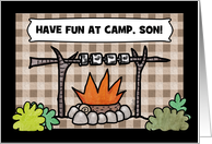 Customize Thinking of You-Summer Camp for Son- Campfire card