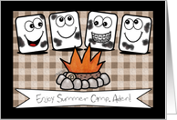 Customizable Name- Thinking of You-Summer Camp- Marshmallows card