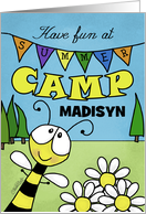 Customizable Thinking of You - Summer Camp for Madisyn-Bee and Banner card