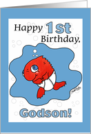 Small Fry-1st Birthday- godson card