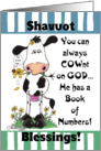 Shavuot Blessings-COWnt on God-Cow with Flower card